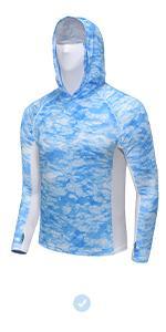 Men Long Sleeve SPF Thumbholes Shirt