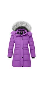 girl long winter coat