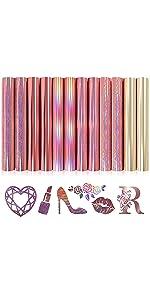 Rose Gold Holographic Vinyl HTV
