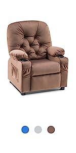 Mcombo Big Kids Recliner Chair Velvet Fabric