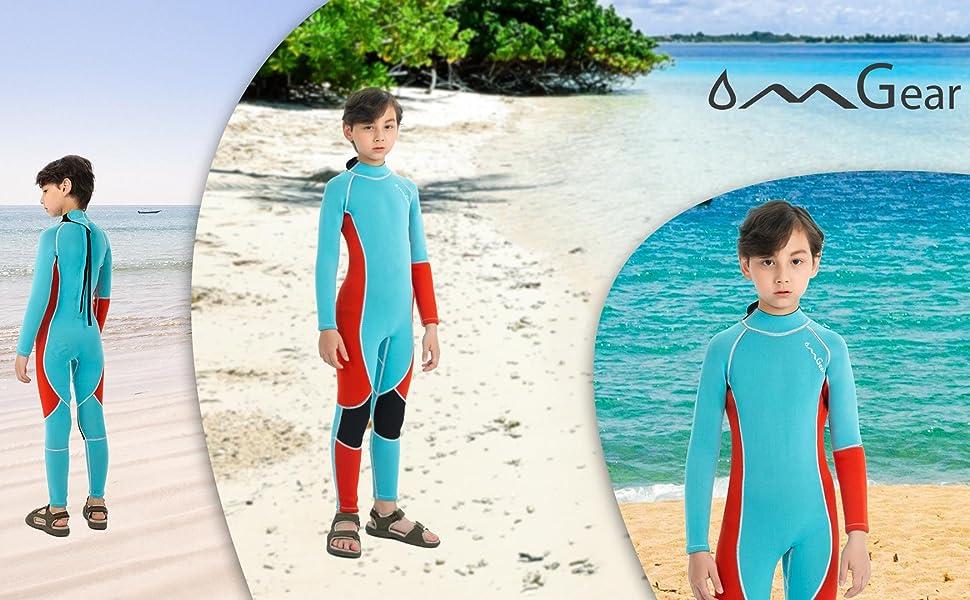 OMGear boy's neoprene diving suit snorkeling gear