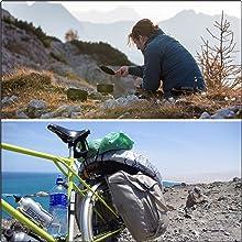登山やキャンプ、ツーリングなどで活躍