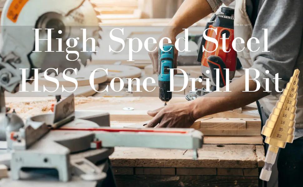 Industrial HSS Step Drill Bit