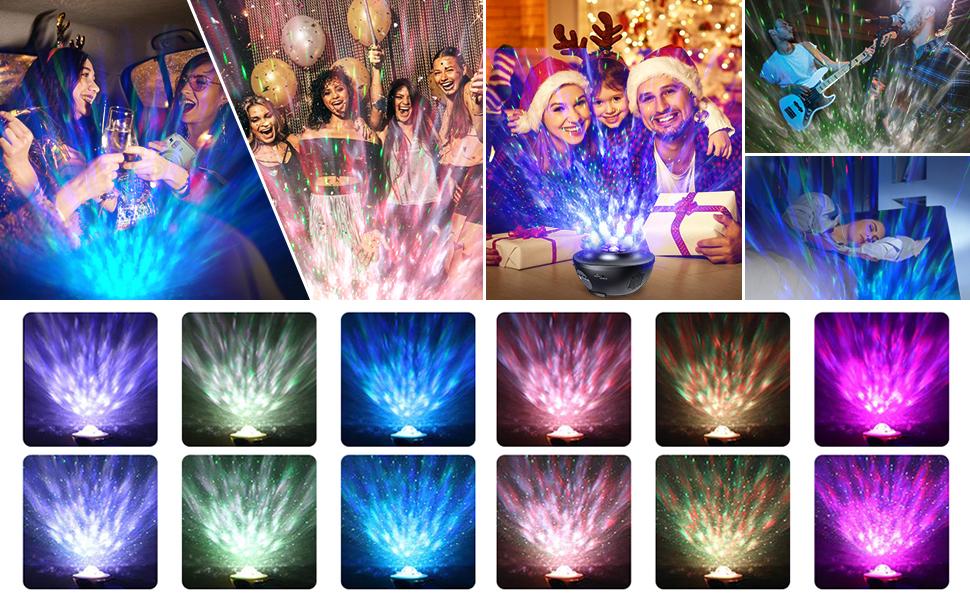Différents modes d'éclairage de couleurs