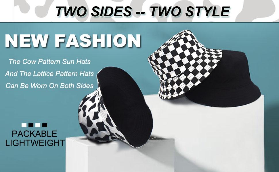 cotton bucket hat for women men adult unisex sun hats