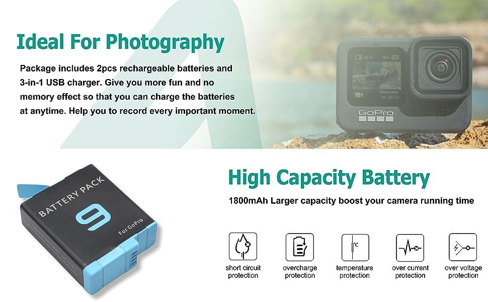 back-up battery for gopro 9