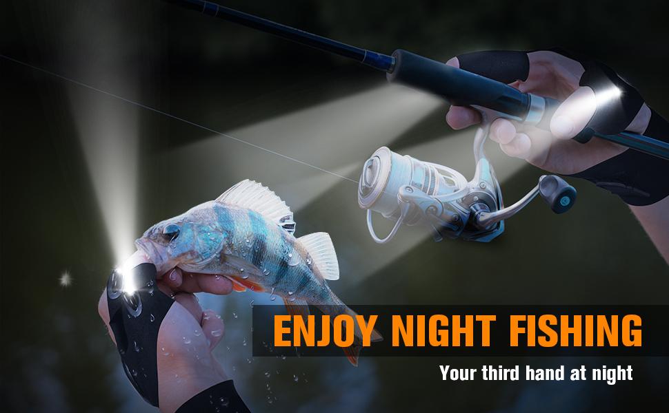 Enjoy night fishing