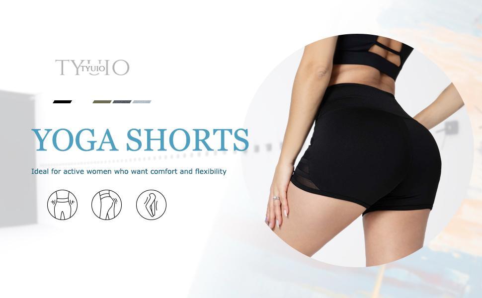 booty yoga shorts for women