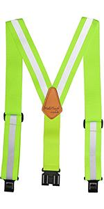 Hi-Vis Safety Suspenders Reflective Safety Tool Belt Suspender