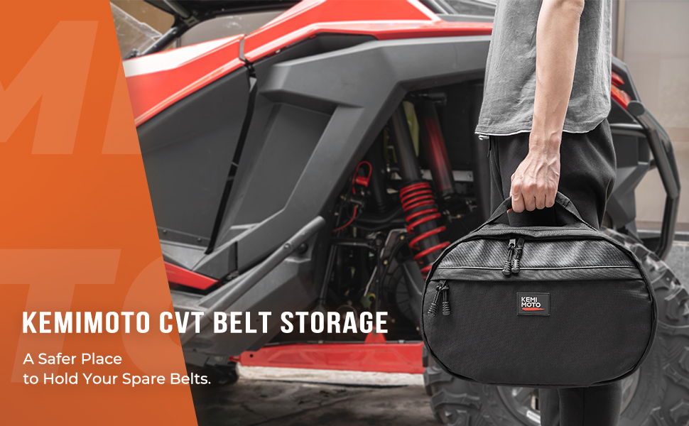 utv atv belt storage bag