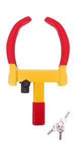 Tevlaphee Universal Heavy Duty Wheel Lock Anti Theft with 3 Keys