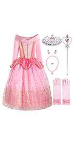 ReliBeauty princess Aurora costume for girls