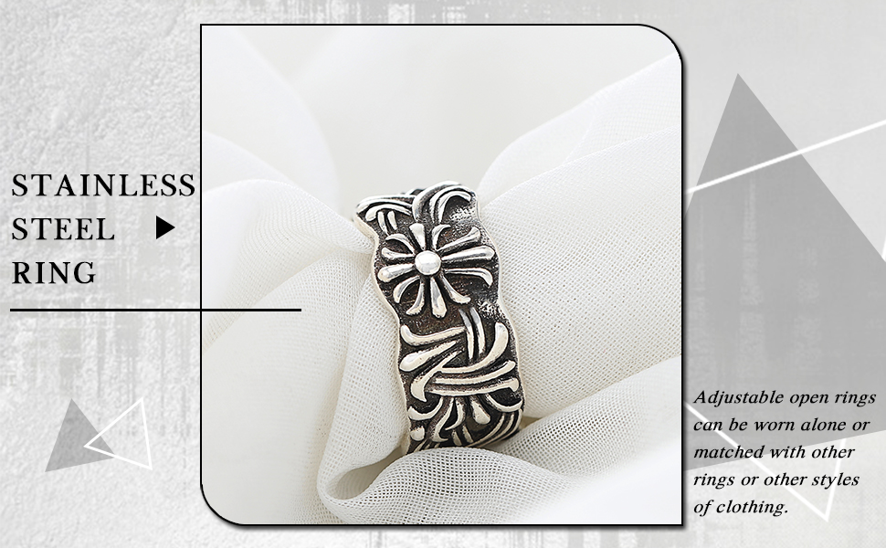 Silver Open Band Ring