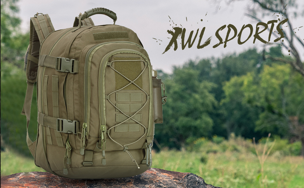XWL SPORTS 3-Day Expandable Outdoor Large Backpack
