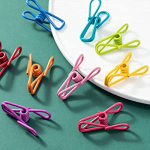 Clothesline Utility Clips PVC-Coated Steel Wire Clips Bag Clips Paper Clips