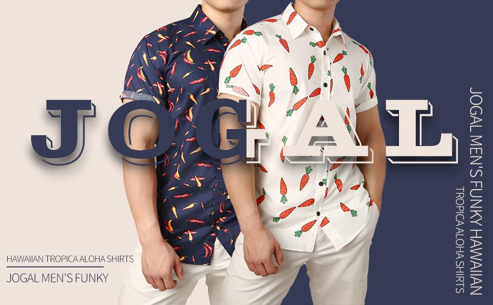 Men's Funky Hawaiian Shirts 100% Cottton Novelty Fun Prints Beach Shirts