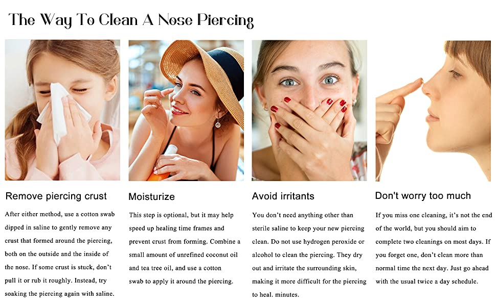 the way to clean a nose piercing