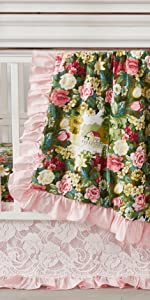 floral crib bedding sets for girls