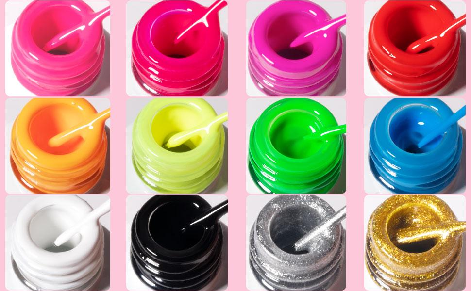 painted gel nail polish