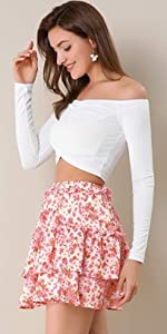 Skater Floral Mini Skirt