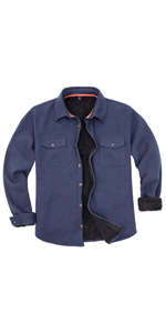 sherpa lined waffle fleece jacket