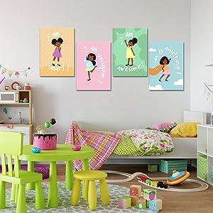 Wall Art Decor for Girl's Bedroom