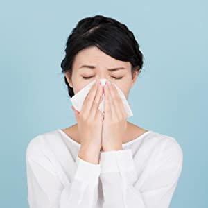 A woman with seasonal allergies
