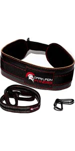 Dark Iron Fitness Dip Belt – Padded Leather Weight Lifting Belts