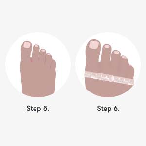 FitFlop, feet measurement guide steps 5 and 6