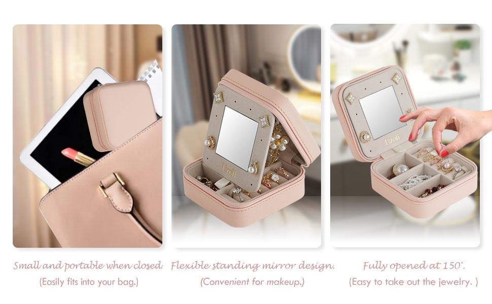 mini jewelry case for travel