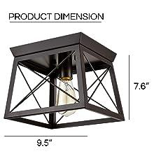 flush mount ceiling light dimension
