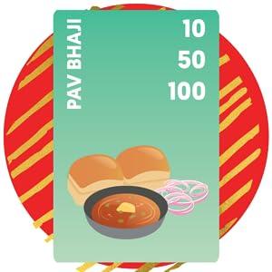 pav bhaji card, chatpate card game, premium quality game