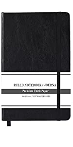 Ruled Notebook Ruled Journal  Lined Journal hardcover notebook writing journal