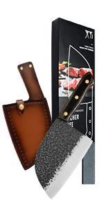 butcher knife with sheath