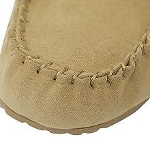 moccasin slippers for women memory foam loafers slip on  women moccasin slipper moccasin women