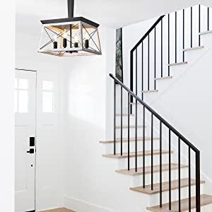 farmhouse foyer chandelier, briarwood collection lighting