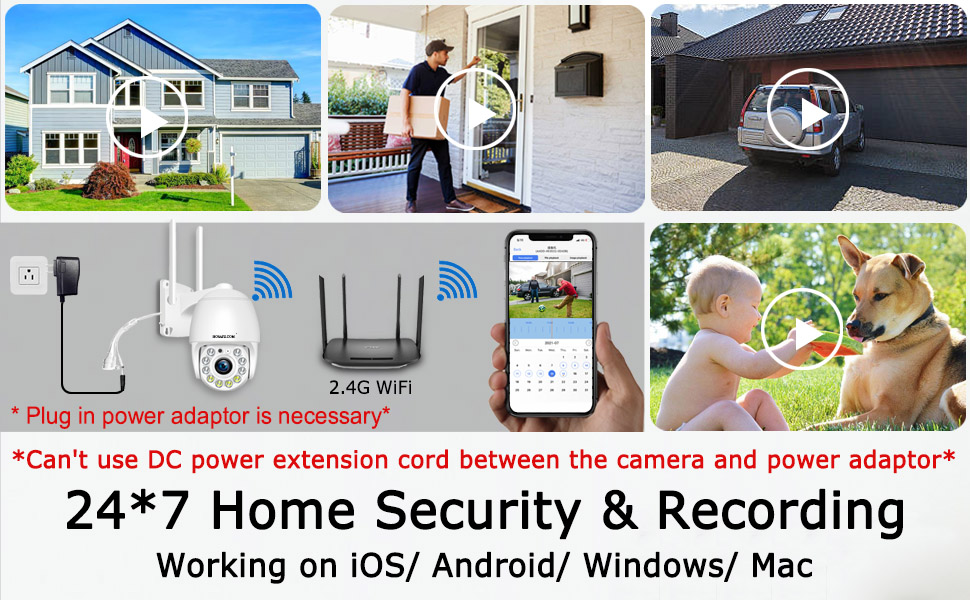 WiFi Cameras for Home Security Outdoor