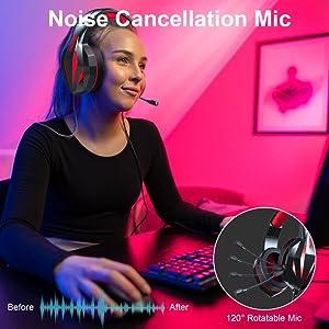 cascos gaming con microfono, auriculares gaming, auricular gamer, cascos gamer, ps4, ps5