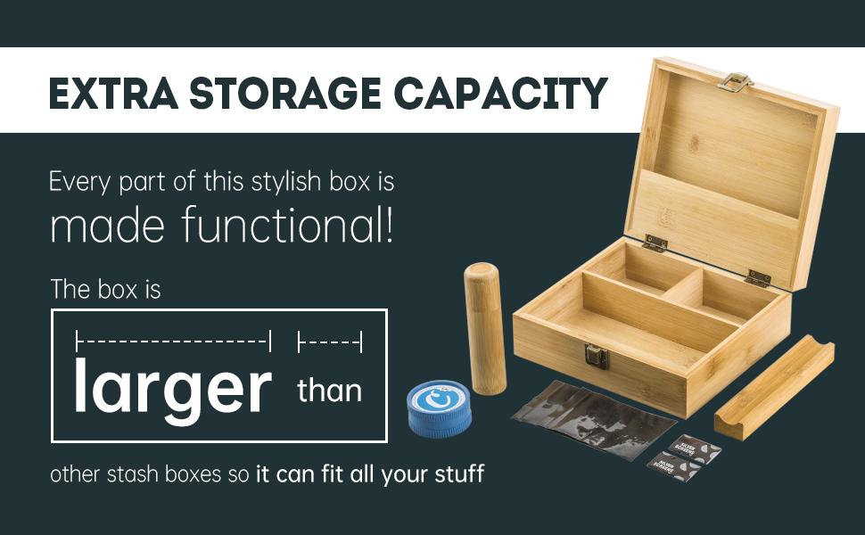 Puffing Bird Stash Box Storage Box With Accessories Spices Grinder Birthday Gift Anniversary Gift