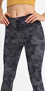 No Cameltoe Camo Leggings for Women Tummy Control, High Waisted 7/8 Length Seamless Yoga Pants