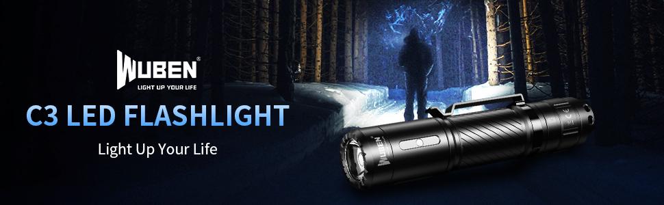 WUBEN C3 Super Bright EDC Flashlight