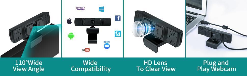 Flashandfocus.com 4bdbeebf-9e45-40d5-8200-1b24c5050037.__CR0,0,970,300_PT0_SX970_V1___ 1080P Webcam with Microphone, Auto Focus and Privacy Cover, USB 2.1 Desktop Laptop Computer Web Camera Great for Zoom…