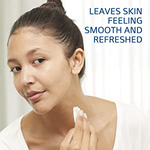 Leaves skin feeling smooth and refreshed