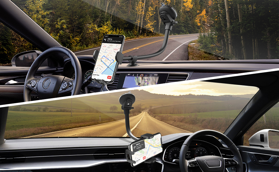 windshield wireless car phone mount