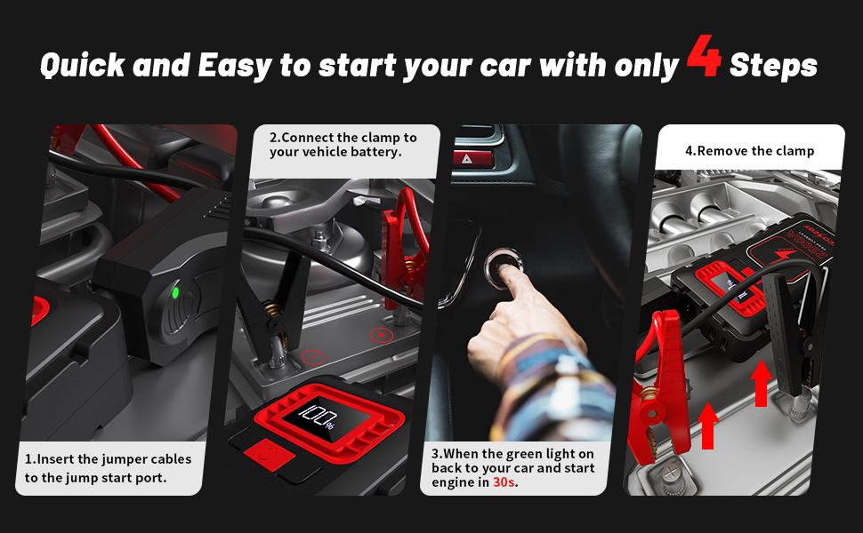 Quick and Easy to start your car with only 4 Steps