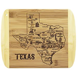 A Slice of Life Texas Serving and Cutting Board