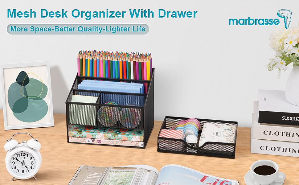 Marbrasse Mesh Desk Supplies Organizer