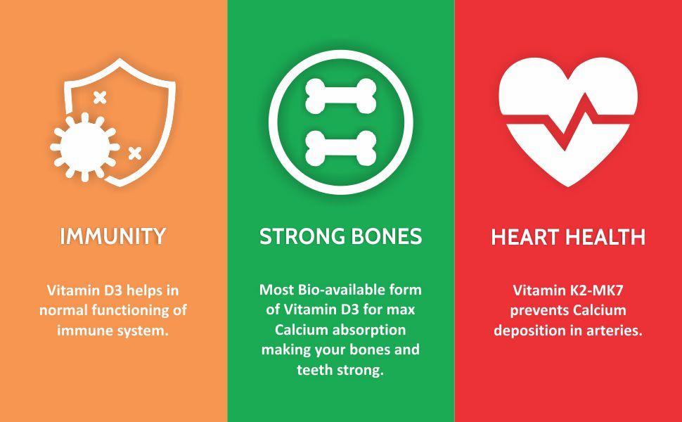 vitamin d3+k2 supplements