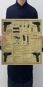 Pistol Weapon Design Figure Kraft Paper