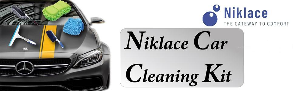 SPN-TP3A0 Niklace Car Cleaning Kit Car Cleaning Accessories combo carpet brush microfiber sponge